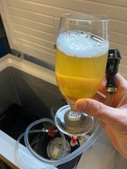 Kegged cerveza